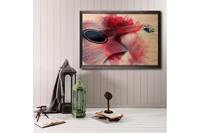 Dekorativt Maleri med Træramme - Flerfarvet - Boligtilbehør - Vægdekoration - Posters & plakater