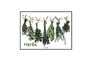 Poster Herbs cart