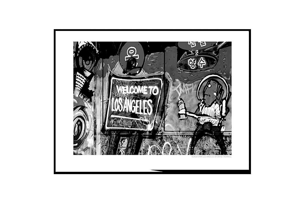 Poster Welcome to LA black - Findes i flere størrelser - Boligtilbehør - Vægdekoration - Posters & plakater