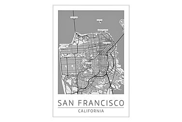 San Francisco Bykort Poster