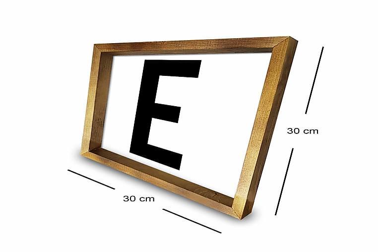 Billede Brev med ramme flerfarvet - 33x03 cm - Boligtilbehør - Vægdekoration - Rammer