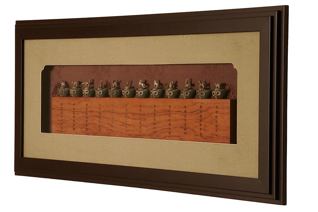 Zodiac Orientalsk Billede Brun - AG Home - Boligtilbehør - Vægdekoration - Rammer