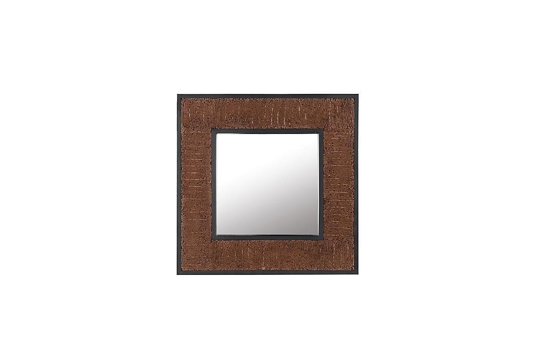 Genton spejl 60x60 cm - Træ / natur - Boligtilbehør - Vægdekoration - Spejle