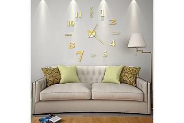 3D-Vægur Moderne Design 100 Cm Xxl Guldfarvet