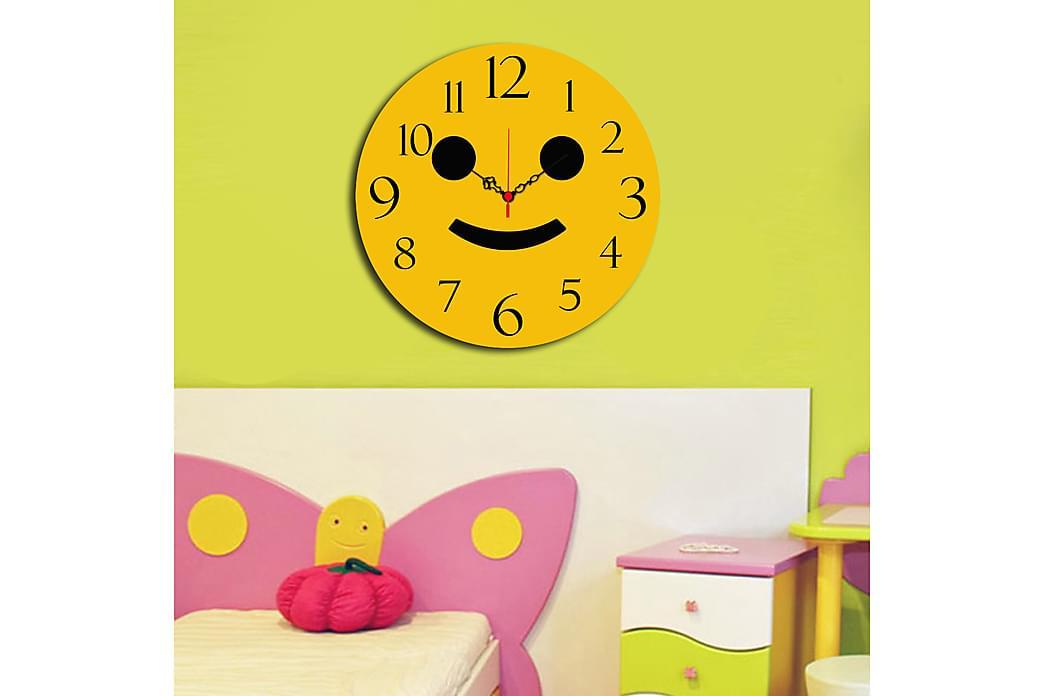Dekorativt MDF-Ur - Flerfarvet - Boligtilbehør - Vægdekoration - Ure