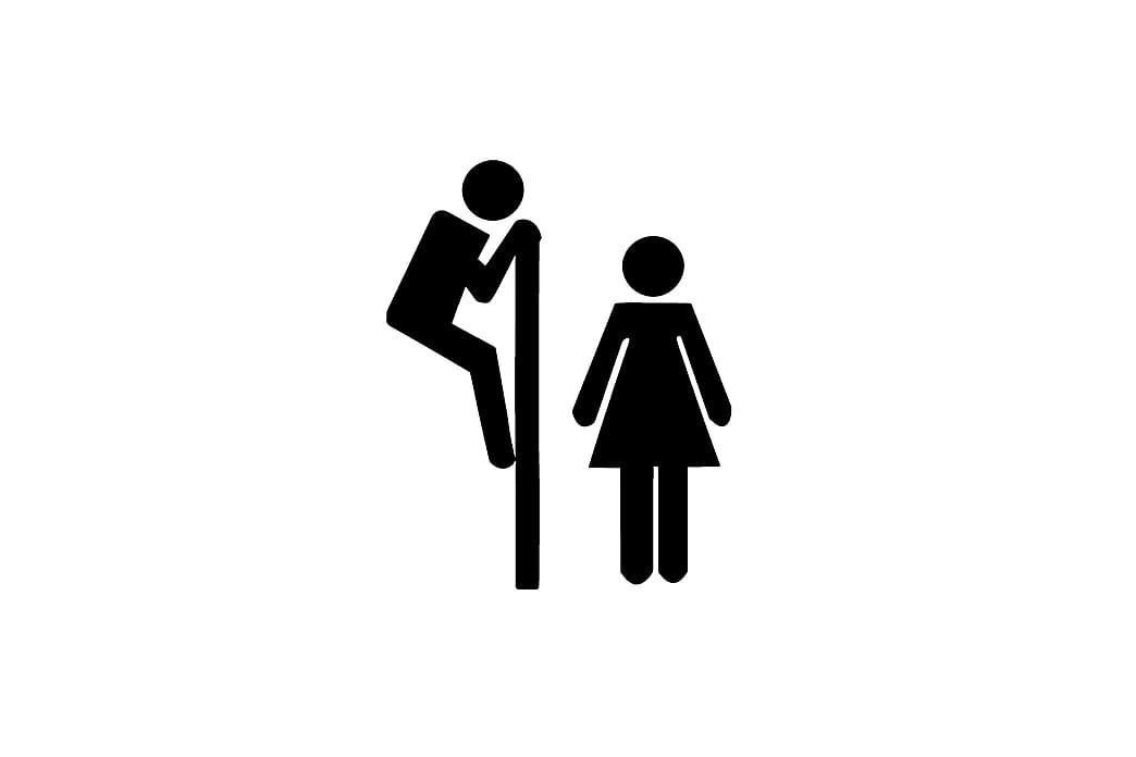 Dekorativt WC-Klistermærke - Sort - Boligtilbehør - Vægdekoration - Wallstickers