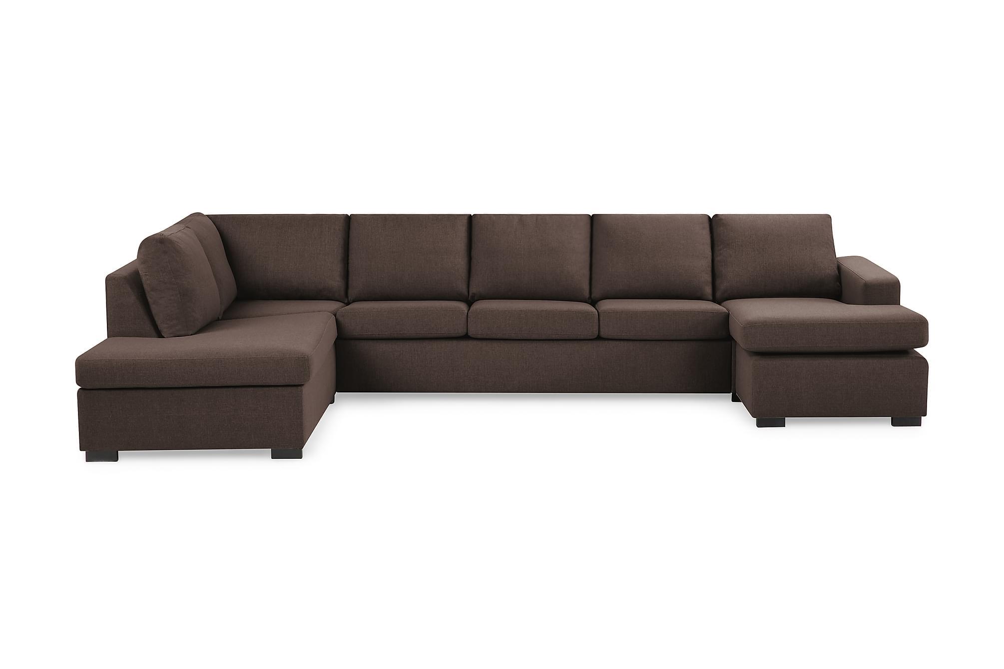 crazy u sofa xxl venstre brun. Black Bedroom Furniture Sets. Home Design Ideas