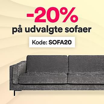 Midlertidig deal - 20% på udvalgte sofaer!