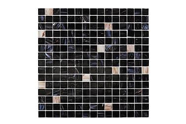 Glasmosaik Dark Heaven Hvid Gold 32,7X32,7
