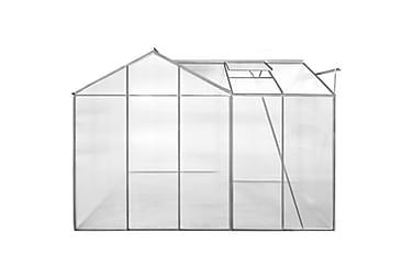 Drivhus I Aluminium 2 Sektioner Med Hule Paneler