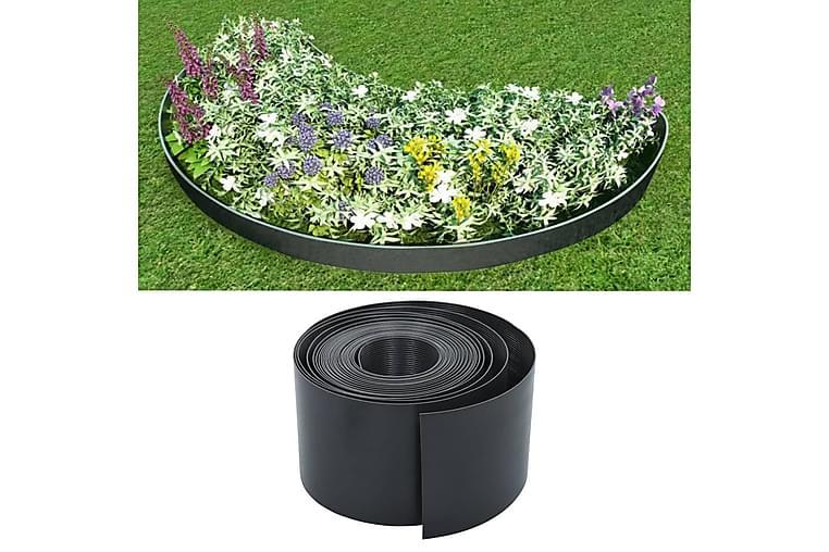 plænekant 10 m 15 cm PE grå - Grå - Have - Havearbejde & dyrkning - Drivhustilbehør