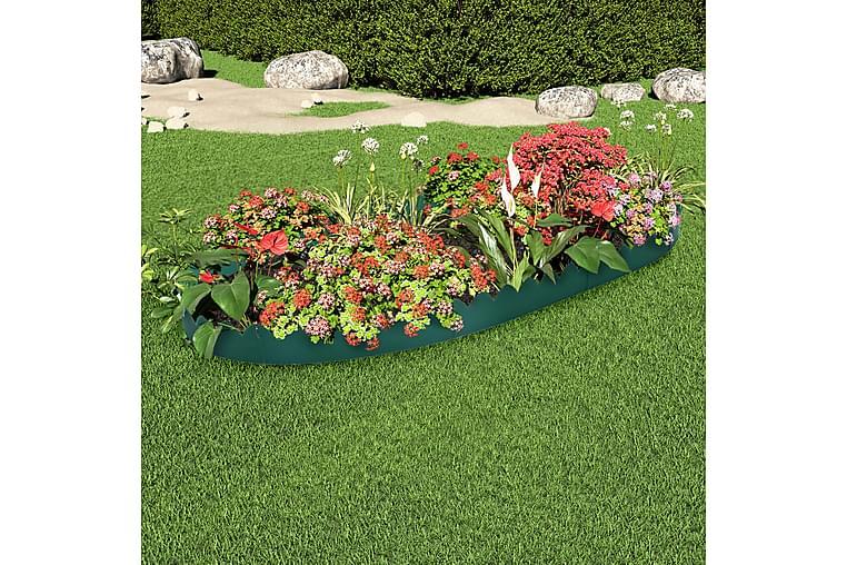 Plænekanter 10 stk. 65x15 cm Pp Grøn - Grøn - Have - Havearbejde & dyrkning - Drivhustilbehør