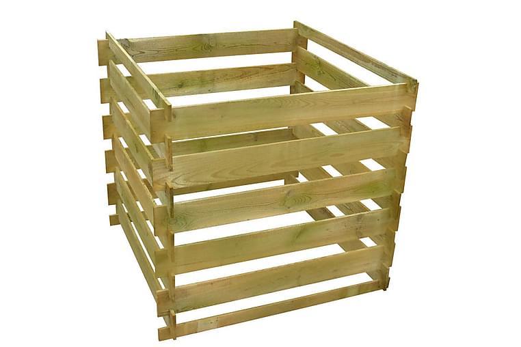 Kompostkasse Med Tremmer Fsc-Træ Firkantet 0,54 M3