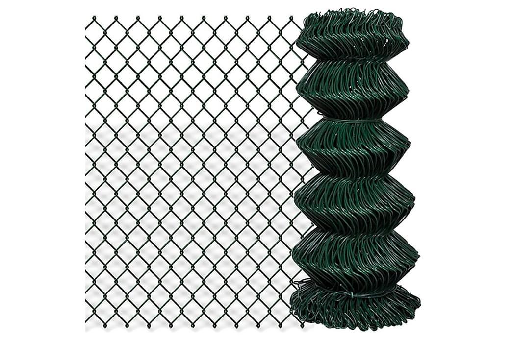 fletvævshegn galvaniseret stål 0,8 x 25 m grøn - Grøn - Have - Havedekoration & havemiljø - Hegn & Porte