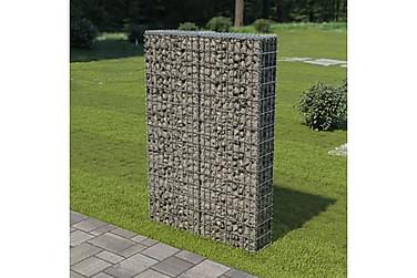 Gabionvæg Med Dæksler Galvaniseret Stål 100 X 20 X 150 Cm
