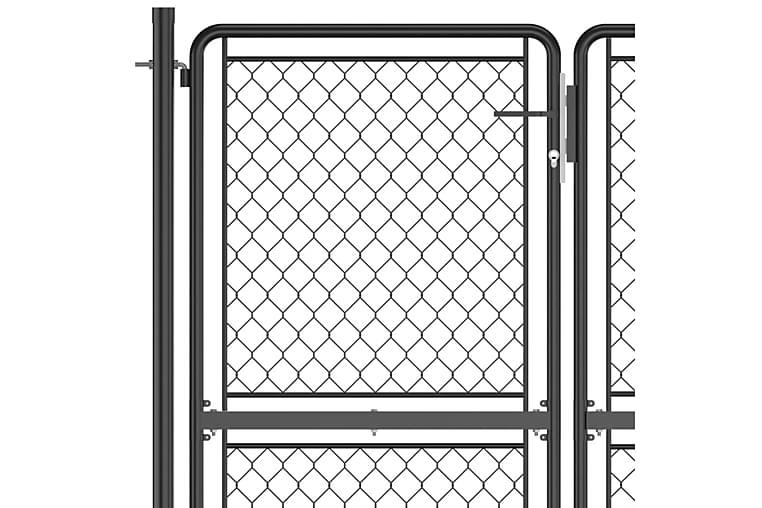 havelåge 175x350 cm stål antracitgrå - Antracit - Have - Havedekoration & havemiljø - Hegn & Porte