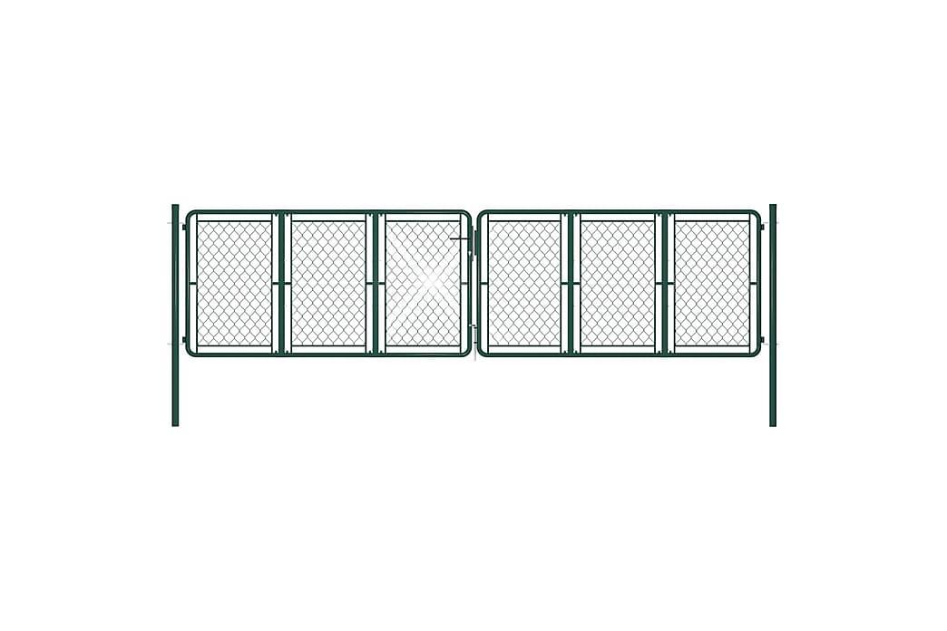 havelåge 400 x 100 cm stål grøn - Grøn - Have - Havedekoration & havemiljø - Hegn & Porte