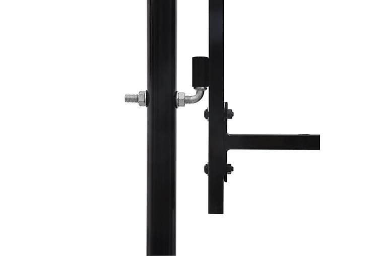 hegnslåge med 2 døre spydspidser 400 x 175 cm - Sort - Have - Havedekoration & havemiljø - Hegn & Porte
