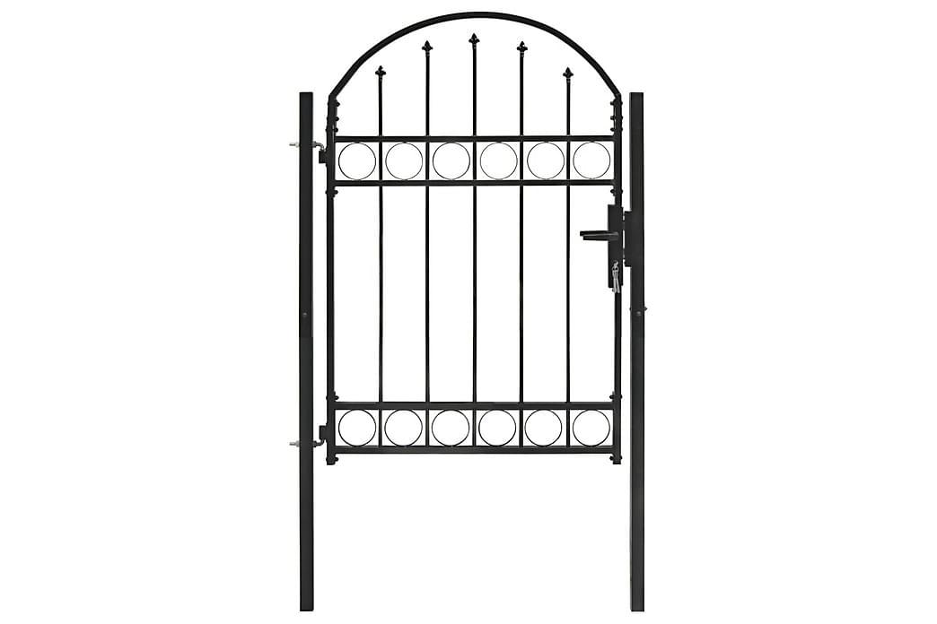 hegnslåge med buet top stål 100 x 125 cm sort - Sort - Have - Havedekoration & havemiljø - Hegn & Porte