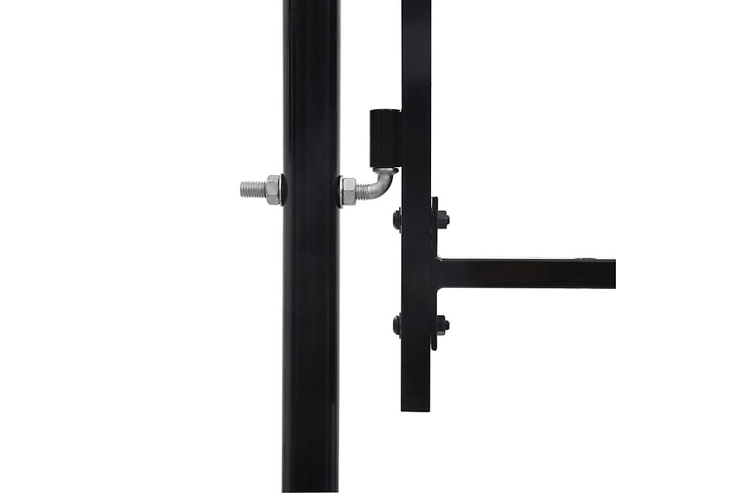 hegnslåge med dobbeltdør og spydtop stål 3 x 1,75 m sort - Sort - Have - Havedekoration & havemiljø - Hegn & Porte