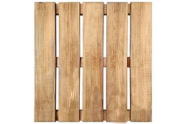 18 Stk. Terrassefliser 50 X 50 Cm Fsc-Træ Brun