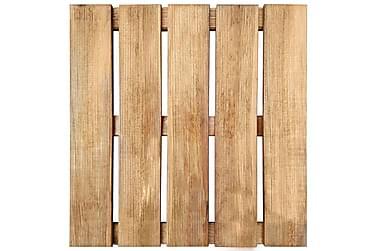24 Stk. Terrassefliser 50 X 50 Cm Fsc-Træ Brun