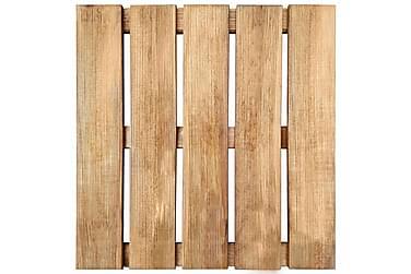 30 Stk. Terrassefliser 50 X 50 Cm Fsc-Træ Brun