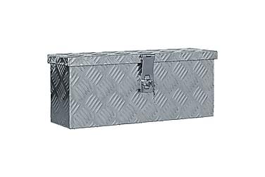 Aluminiumskasse 48,5 X 14 X 20 Cm Sølvfarvet