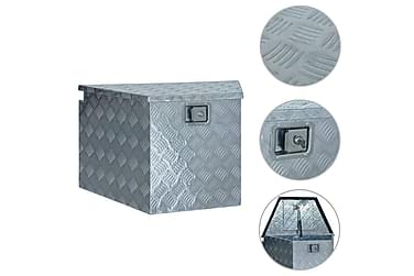 Aluminiumskasse 737/381 X 410 X 460 Cm Sølvfarvet