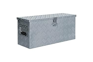 Aluminiumskasse 76,5 X 26,5 X 33 Cm Sølvfarvet