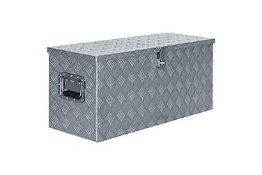 Aluminiumskasse 90,5 X 35 X 40 Cm Sølvfarvet