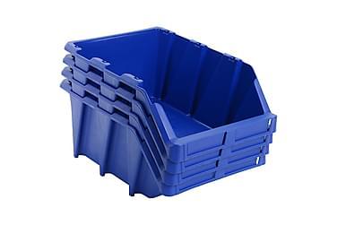 Stabelbare Opbevaringskasser 15 Stk. 310 X 490 X 195 Mm Blå
