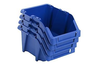 Stabelbare Opbevaringskasser 150 Stk. 125 X 195 X 90 Mm Blå