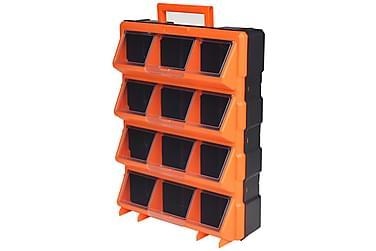 Transportabel Vægmonterbar Værktøjskasse Med 12 Rum