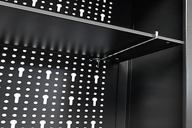 Vægmonteret Værktøjsskab Industrielt Metal 120X19X60Cm Sort