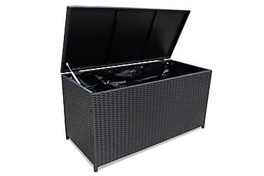 Udendørs Opbevaringskasse Sort 150 X 50 X 60 Cm Polyrattan
