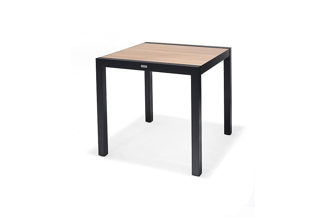 Panama Cafébord 92 cm - Sort/Gul - Havemøbler - Havebord - Caféborde