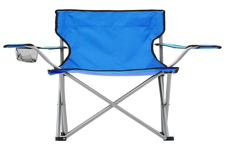 Campingbord Og -Stolesæt 3 Dele Blå - Blå - Havemøbler - Havebord - Campingborde