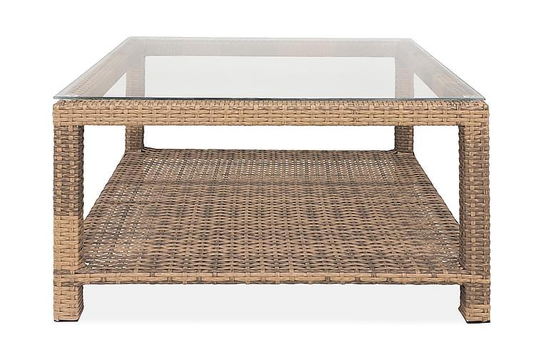 Bahamas Bord med Hylde 75x75 cm - Sand - Havemøbler - Havebord - Loungeborde