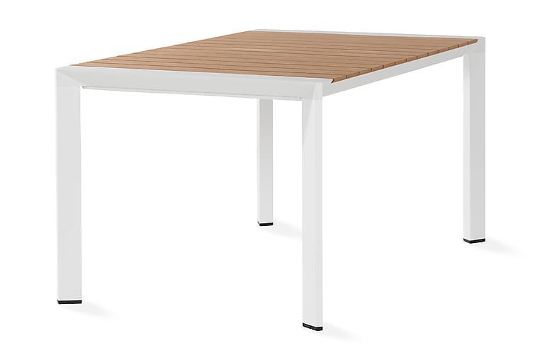 Demple Spisebordssæt 150 cm - Natur/Hvid - Havemøbler - Havebord - Spisebord