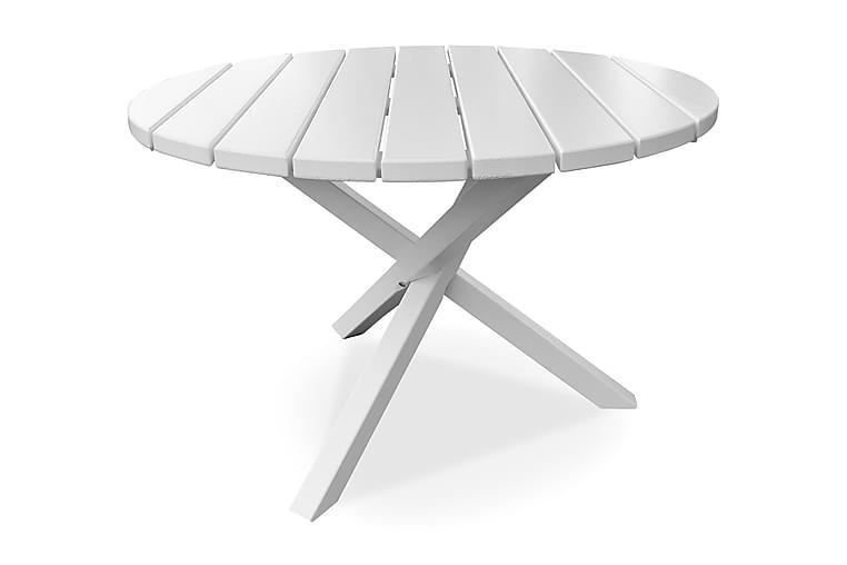 Scottsdale Fasta Spisebord 112 cm Rundt Hvid - KWA - Havemøbler - Havebord - Spisebord