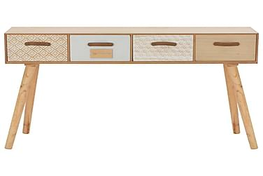 Konsolbord Med 4 Skuffer 110 X 30 X 75 Cm Massivt Fyrretræ