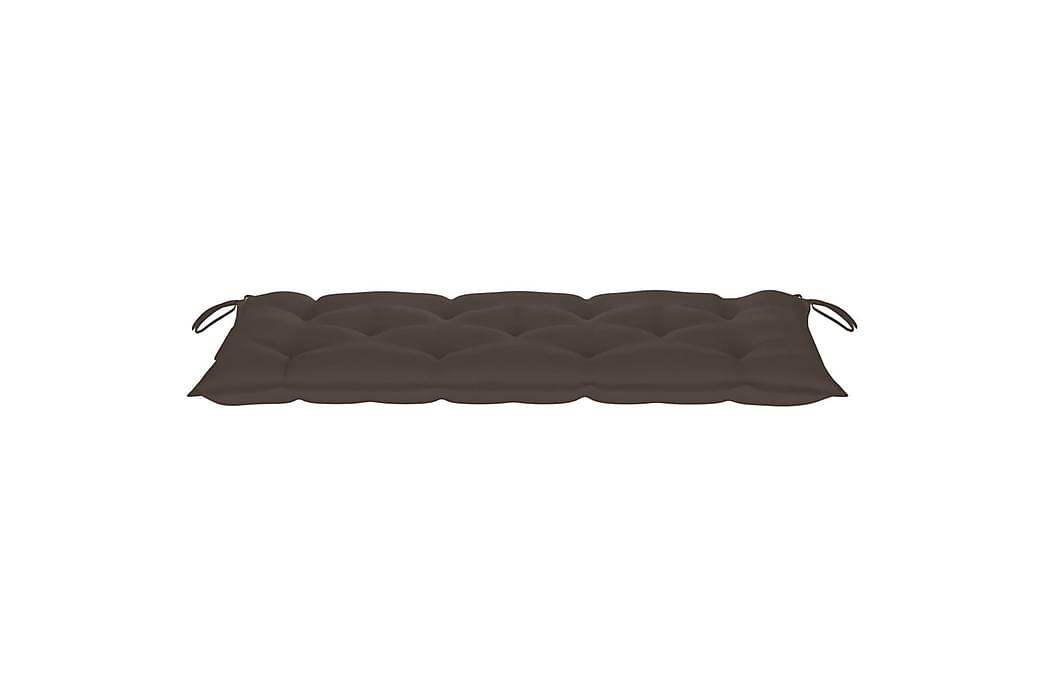 Hynde til havebænk 120x50x7 cm stof gråbrun - Gråbrun - Havemøbler - Hynder - Hynder til bænk & havesofa