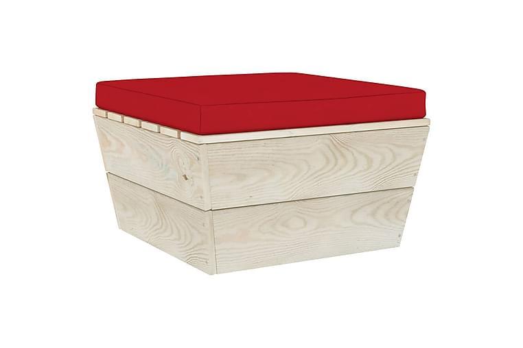 Hynde til palleottoman stof rød - Rød - Havemøbler - Hynder - Hynder til bænk & havesofa
