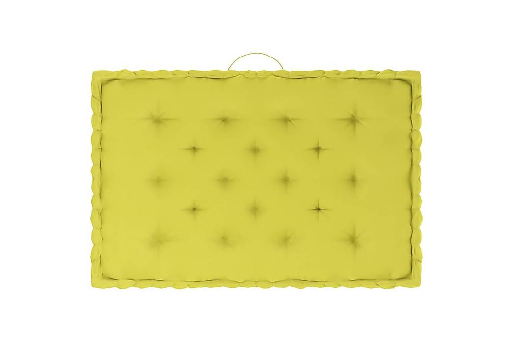pallehynder 6 stk. bomuld æblegrøn - Grøn - Havemøbler - Hynder - Hynder til bænk & havesofa