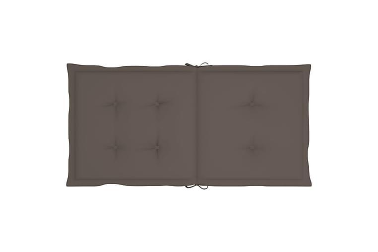 Hynder Til Havestole 6 Stk. 100x50x4 cm Gråbrun - Gråbrun - Havemøbler - Hynder - Siddehynder
