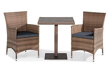 Bahamas Cafésæt 70x70 + 2 Thor Lænestol m. Hynde