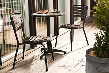 Hillerstorp Brighton Cafésæt 58 Rund + 2 Stabelstole
