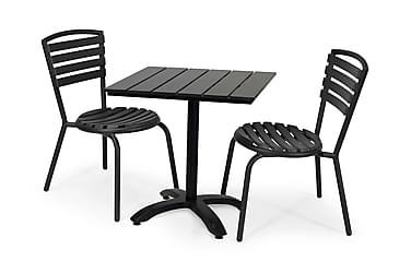 Hillerstorp Brighton Cafésæt 70x70 + 2 Stabelstole