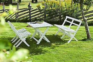 Hillerstorp Torpet Spisebordsæt 68x110 + 2 Lænestole + Sofa